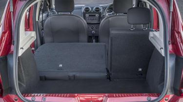 Dacia Sandero hatchback boot seats folded