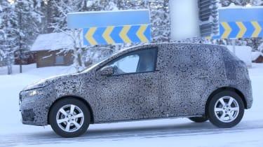 2021 Dacia Sandero winter testing - side dynamic