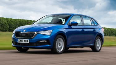 Skoda Scala hatchback front 3/4 driving