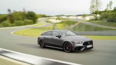 2019 Mercedes-AMG CLA 45 S Shooting Brake - dynamic on track view