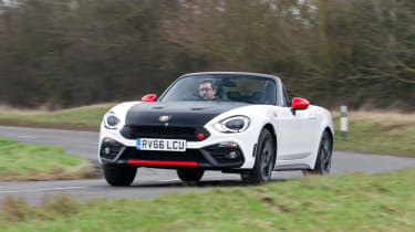 The Abarth 124 Spider is the sister to the Fiat 124 Spider and Mazda MX-5