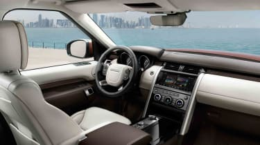 The new Land Rover Discovery's interior has gone significantly further upmarket than the previous model
