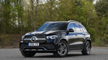 Mercedes GLE SUV front 3/4 static