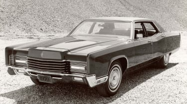 The luxurious Lincoln Continental was a match for the Cadillac Eldorado both in terms of ability and sales