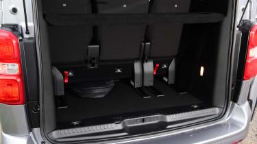 Citroen SpaceTourer MPV boot seats up