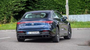 Mercedes EQS hatchback rear cornering