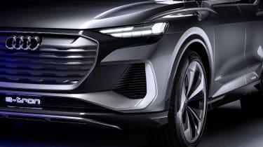 Audi Q4 Sportback e-tron light and grille
