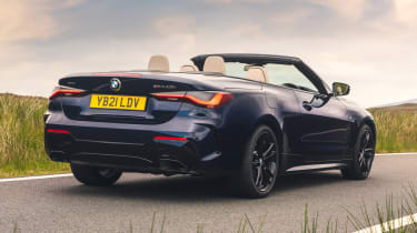 BMW 4 Series Convertible rear 3/4 tracking