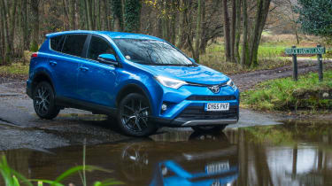 The RAV4 is powered by a choice of petrol, diesel and petrol-electric hybrid engines
