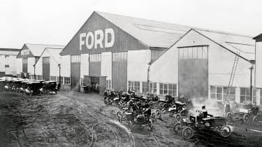 Ford's factory in Trafford Park built Model T cars and the Model TT van