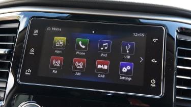 Mitsubishi L200 pickup infotainment system