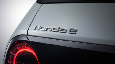 Honda e - rear badging final production
