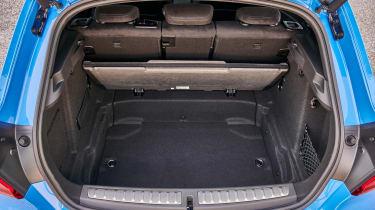 BMW M135i boot - underfloor storage