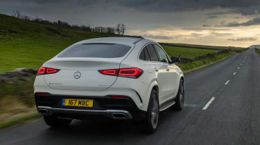 Mercedes GLE SUV Coupe rear 3/4 tracking
