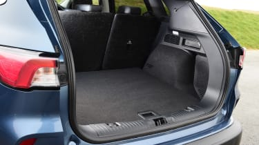 Ford Kuga boot - side view with seats up