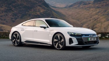 Audi e-tron GT saloon front 3/4 static