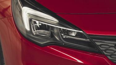 Vauxhall Astra hatchback headlights