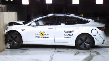 Tesla Model 3 crash test by Euro NCAP