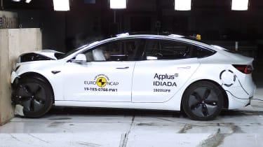 Tesla Model 3 crash test by Euro NCAP