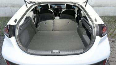 Hyundai Ioniq Hybrid boot seats folded down