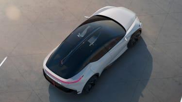 Lexus LF-Z concept - roof 3/4 view