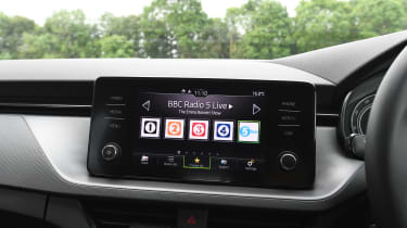 Skoda Scala hatchback infotainment display