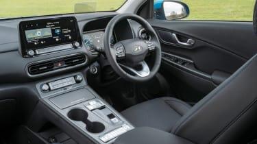 Hyundai Kona Electric SUV dashboard