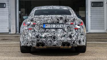 2020 BMW M4 prototype rear end
