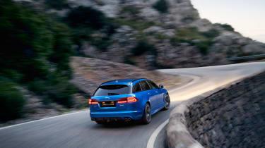 Jaguar XFR-S Sportbrake rear action