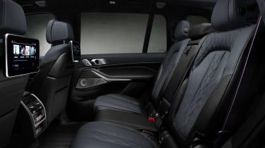 BMW X7 Dark Shadow Edition rear seats