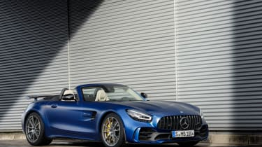 Mercedes-AMG GT R Roadster side roof down