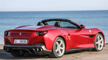 It might be fast, but a wind deflector and smooth suspension means the Portofino is also comfortable