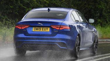 Jaguar XE saloon rear action