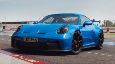 Blue Porsche 911 GT3