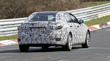 2021 Mercedes C-Class testing at the Nurburgring - rear