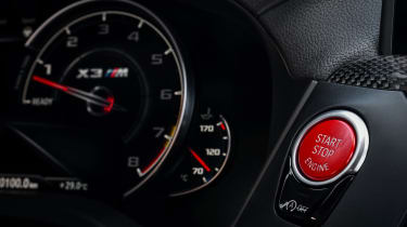BMW X3 M Competition SUV engine start/stop button