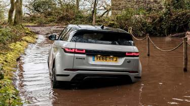 Range Rover Evoque SUV wading