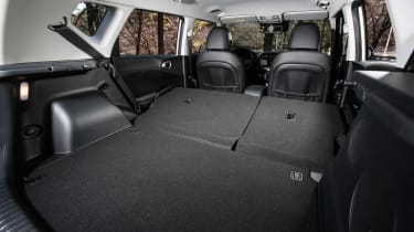 Kia Soul EV hatchback seats folded cargo space