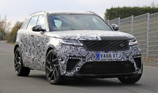 Range Rover Velar SVR front spy shot