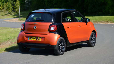 Whichever of the three petrol engines you choose, the Smart ForFour always has its engine under the boot floor.