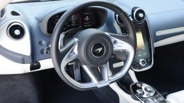 McLaren GT steering wheel