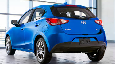 US-market Toyota Yaris, which shares styling with the Mazda2