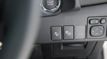 There's lots of technology, including a power button and emergency braking assistance