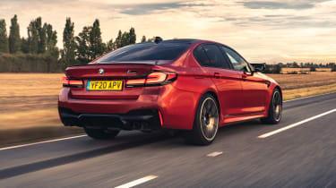 2021 BMW M5 Competition saloon - rear 3/4 dynamic