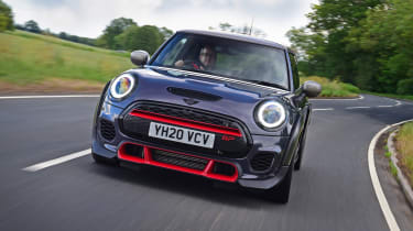 MINI JCW GP - front 3/4 dynamic driving