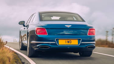 Bentley Continental Flying Spur saloon rear tracking