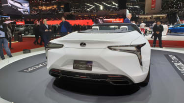 Lexus LC Convertible concept Geneva rear