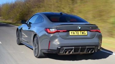 BMW M4 Coupe rear tracking