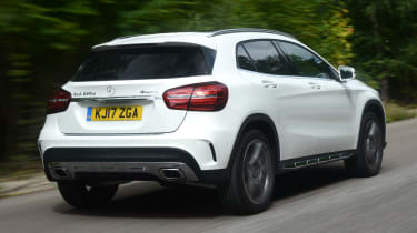 The facelift didn't change the GLA's fundamentals, other than an upgrade for the suspension to improve ride quality.