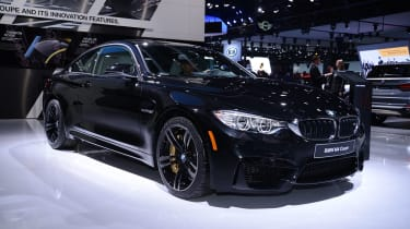 BMW M4 coupe 2014 front quarter static
